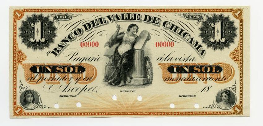 Peru 1 sol 1873 banco del valle de chicama unc s423p 50880 world peru 1 sol 1873 banco del valle de chicama unc s423p 50880 world numismatics llc thecheapjerseys Choice Image