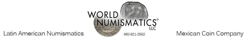 World Numismatics LLC Retina Logo