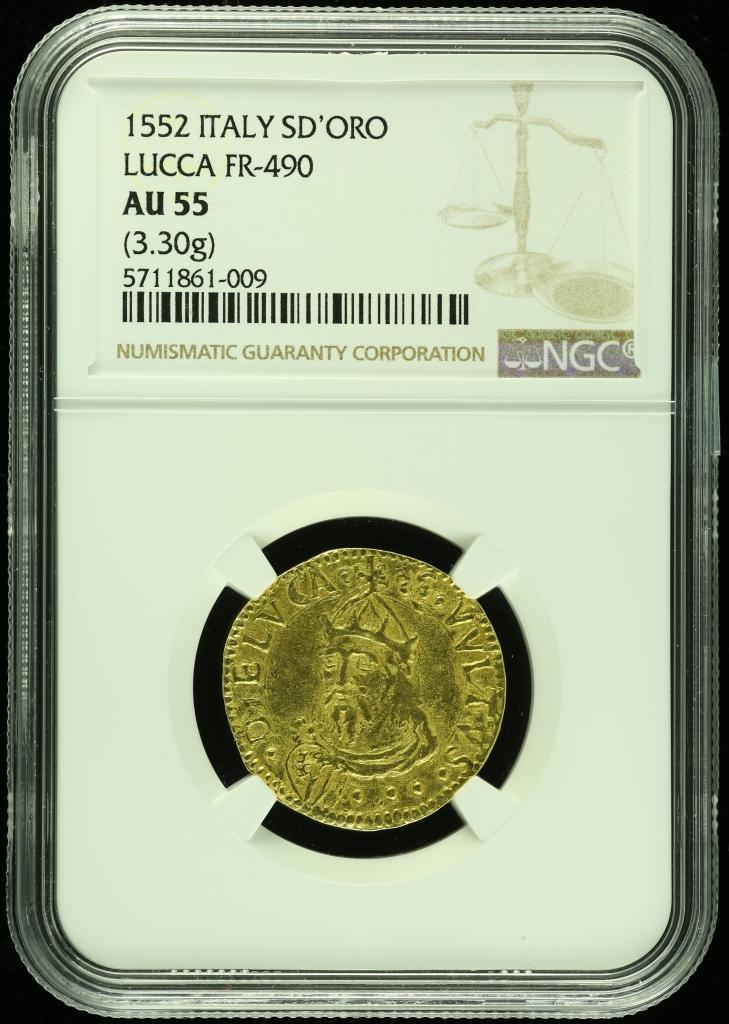 Italy/San Marino/Vatican Scudo D Or 1552 NGC AU55 0109891
