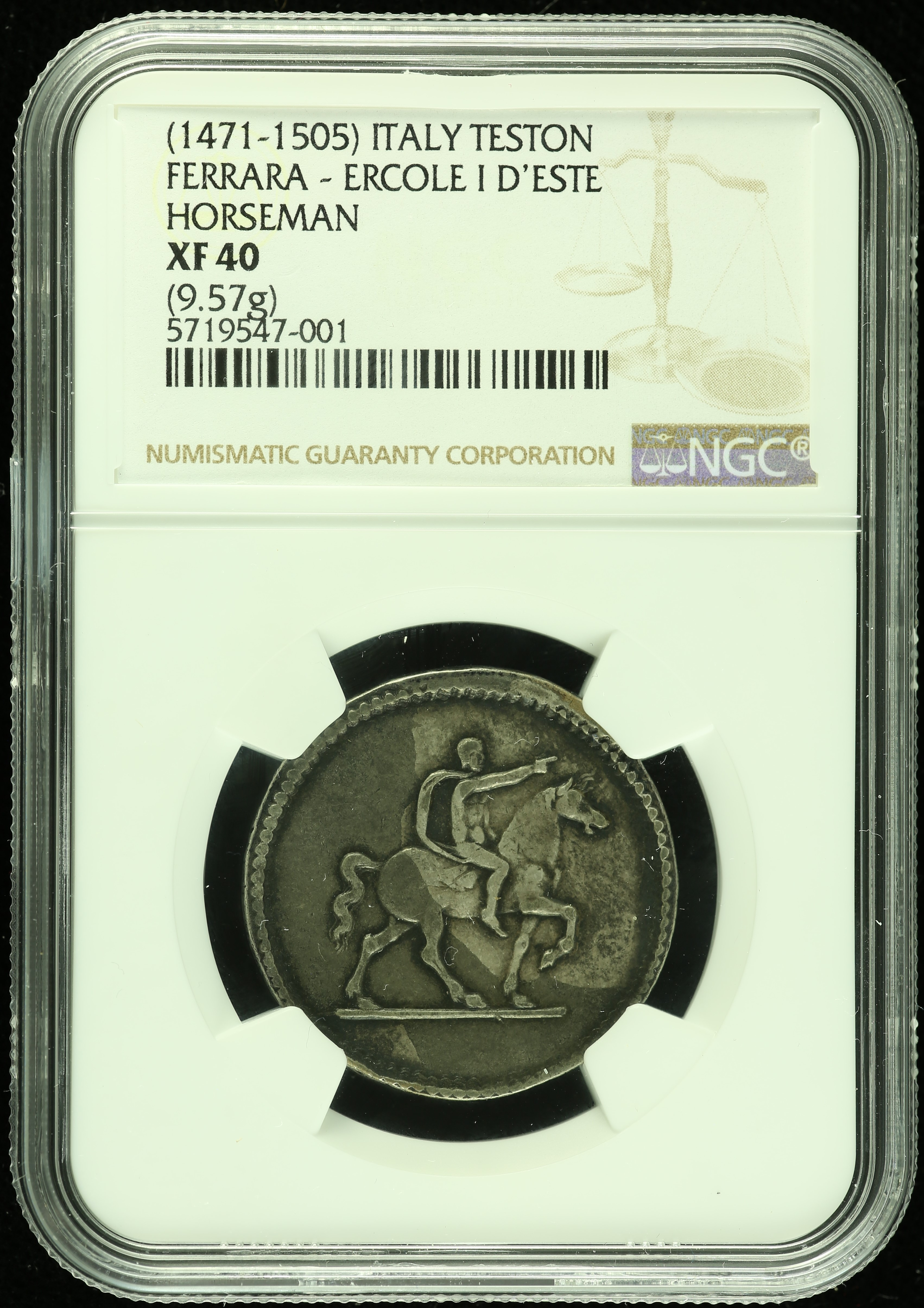 Italy/San Marino/Vatican Teston (1471-1505) NGC XF40